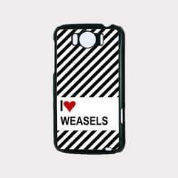 Love Heart Weasels HTC G21 Case - Fits HTC G21