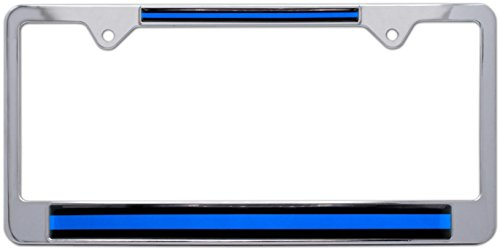 - AMG Auto Emblems Thin Blue Line License Police Plate Frame - Support Law Enforcement