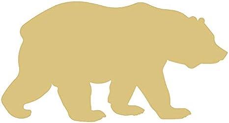 Bear cutout Bear shape Woodland cutouts Unfinished wood shapes