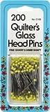 Bulk Buy: Dritz Quilter's Glass Head Pins Size 22 200/Pkg C106 (2-Pack)