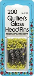 Bulk Buy: Dritz Quilter's Glass Head Pins Size 22 200/Pkg C106 (2-Pack) by Dritz