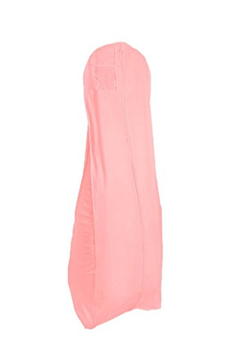 TUVAINC Tuva Pink Vinyl Wedding Gown/Dress Bridal Garment Bag 72'' Long with 10'' Gusset