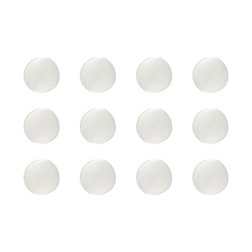 ButtonMode BU182DIV Fabric Covered Satin Trim Buttons, Metal Shank Back, Ivory, 11mm 12-Pack (Covered Shank)