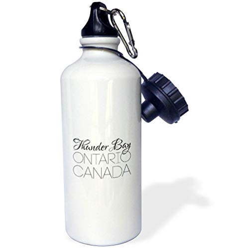 3dRose Alexis Design - Canadian Cities - Thunder Bay Ontario, Canada. Chic, Unique Patriotic Home Town Gift - 21 oz Sports Water Bottle (wb_304853_1)
