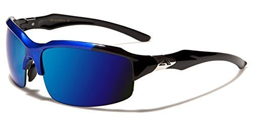 Mens Womens Sport Sunglasses Cycling Baseball Ski Snowboard Blue Mirror Lens - For Bikers Sunglasses Best