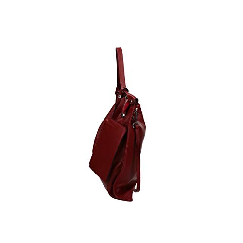 leather with shopper bag MadeinItaly CARDIN VN3015 PIERRE bordeaux clutch Woman gqBFq