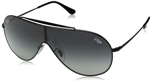 - Ray-Ban RB3597 Wings Shield Sunglasses, Black/Grey Gradient, 33 mm