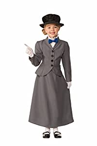 Victorian Kids Costumes & Shoes- Girls, Boys, Baby, Toddler Forum Novelties Kids English Nanny Costume Gray Medium $22.80 AT vintagedancer.com