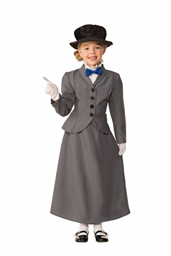 Mary Halloween Costumes (Forum Novelties Kids English Nanny Costume, Gray, Small)