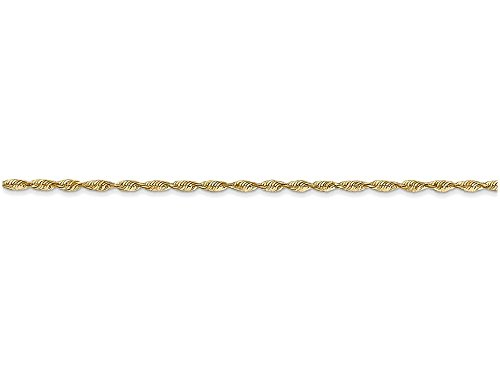 Finejewelers 14k 1.5mm bright cut Extra light Rope Chain
