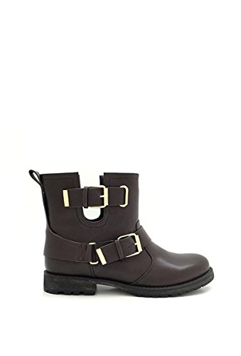 CHIC NANA Women's Biker Boots Brown ocpbyTy