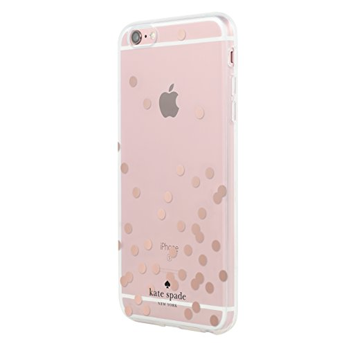 kate spade new york Hardshell Clear Case for iPhone 6 Plus & iPhone 6s Plus - Confetti Dot Rose Gold -