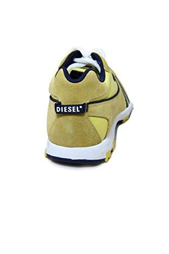 Diesel Suede/Nylon Sneaker Psyke Yellow
