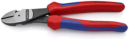Knipex 7422200SBA 8-Inch High Leverage Angled Diagonal Cutters - Comfort ()