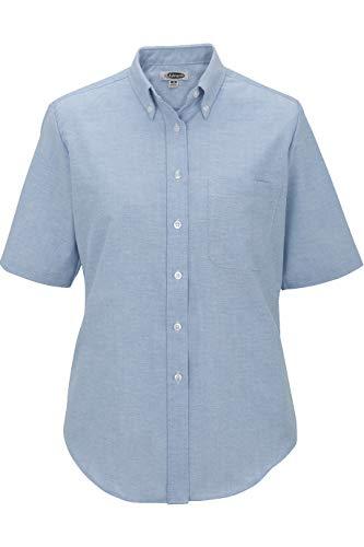 Edwards Ladies' Short Sleeve Oxford Shirt Large Blue