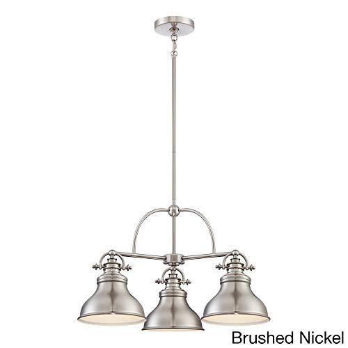 Quoizel ER5103BN Emery Metal Shade Downlight Dinette Chandelier, 3-Light, 300 Watts, Brushed Nickel (15