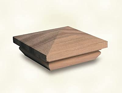 Woodway Products Redwood Pyramid Post Cap