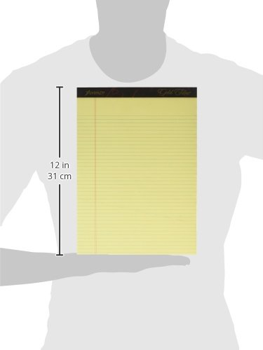 Esselte ESS20022 Ampad Gold Fibre Pads, 8 1/2 x 11 3/4, Canary, 50 Sheets (Pack of 12) by Esselte (Image #7)