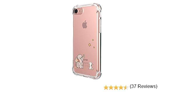 Alsoar Funda Compatible para iPhone 7,iPhone 8 Ultra Delgada Ligera Transparente Silicona TPU Gel Suave Carcasa Elegante Patrón Lindo Bumper Anti-Rasguño Protector Caso Case (Estrella de Elefante): Amazon.es: Electrónica