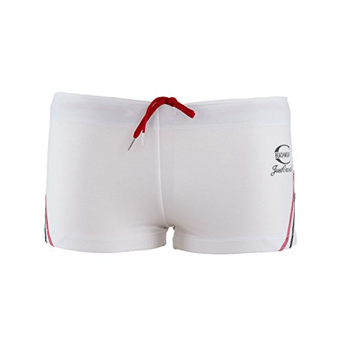 Just Cavalli Men White Square Cut Swim Short Stretch Beach Boxer Briefs Swimsuit L US EU - Boxers Just Cavalli Stretch