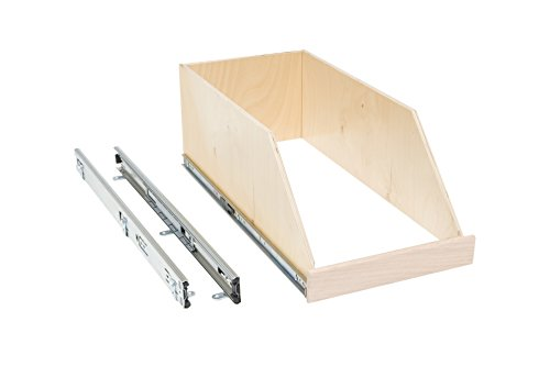 Slide-A-Shelf AMC-PL-HSO-15W18D8H-F Baltic Birch 8'' Sided Slide-Out Shelf with Full Extension, 15'' x 18'' x 8'' by Slide-A-Shelf