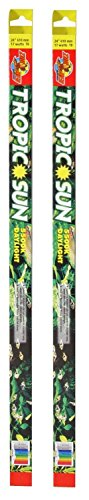 (2 Pack) Zoo Med Tropic Sun 5500K Daylight Fluorescent Bulb T8 32 Watt, 48-Inch
