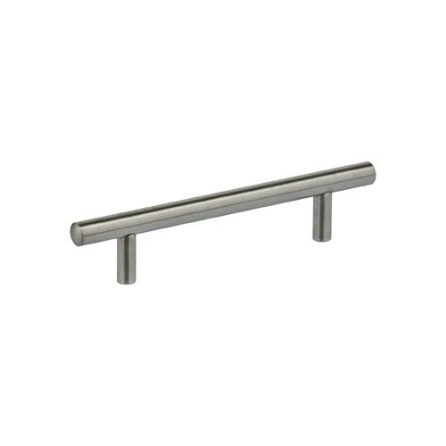 Omnia 9464/96 Stainless Steel 3-3/4 Inch Center to Center Bar Cabinet Pull, Brushed Stainless Steel