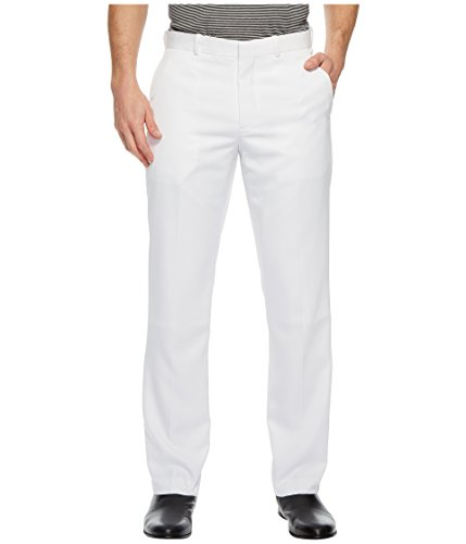 (Perry Ellis Portfolio Mens Solid Performance Portfolio Pant Bright White 30)