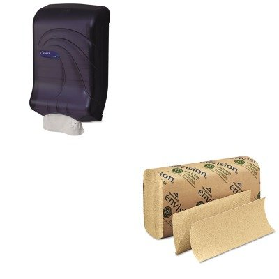 KITGEP23304SJMT1790TBK - Value Kit - Georgia Pacific Multifold Paper Towel (GEP23304) and San Jamar T1790TBK Black Large Capacity Ultrafold Paper Towel Dispenser for C-fold or Multifold Paper Towels (SJMT1790TBK)