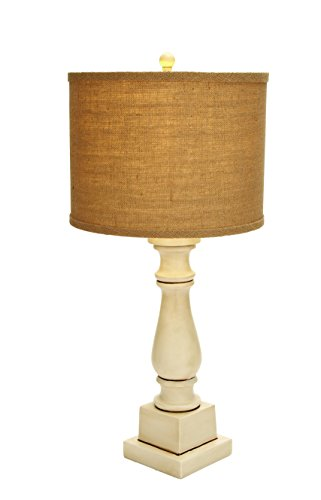 Benzara 97317 Contemporary Table Lamp, Mix of White and Beige Color