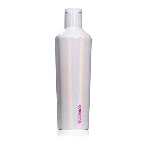 - Corkcicle Canteen Classic Collection - Water Bottle & Thermos - Triple Insulated Shatterproof Stainless Steel, Sparkle Unicorn Magic, 25 oz