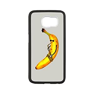 Samsung Galaxy S6 Cell Phone Case White Jazz Banana U4L7P