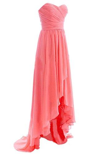 Bess Formal High Long Evening Gowns Low Women's Bridesmaid Ivory Bridal Dress rrRHq4