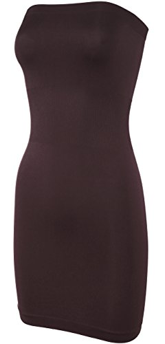 KMystic Seamless Strapless Tube Slip Dress (Brown),One Size by KMystic (Image #1)