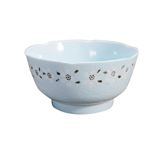 WaWei Bowl Japanese Bowl Home Large Bowl Creative Dessert Ceramic Instant Noodles Dishes Set Tableware Porcelain Bowl Rice Bowl (Color : #3)