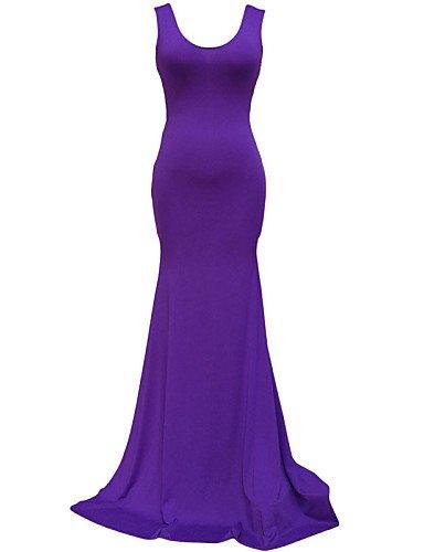 CBIN&HUA Damen Kleid Sexy / Leger Maxi Polyester / Elasthan U-Ausschnitt