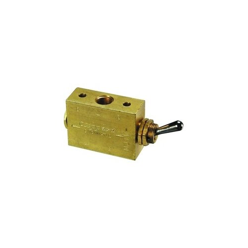 Clippard M-MJTV-4 4-Way Toggle Valve, Enp Steel Toggle, G1/8 by clippard