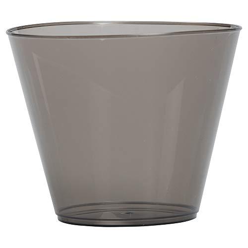 JAM PAPER Plastic Glasses Party Pack - 9 oz Tumblers - Black - 72 Hard Plastic Cups/Pack