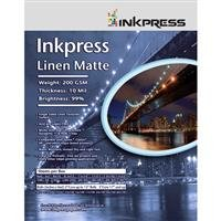 Inkpress LM851150 Linen Matte 8.5X11 200 200 GSM Textured Watercolor Paper 10 Mil Bright White 1 Side
