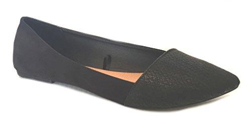 Shoes8teen Kvinna Faux Mocka Dagdrivare Rökning Skor Lägenheter 3 Färgerna Svart 5069a