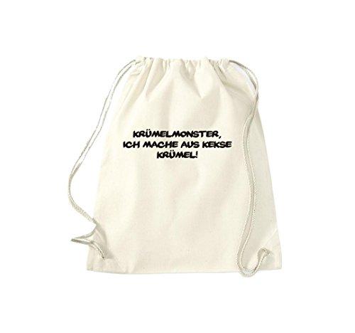 Camiseta de deporte Town Gymsac enbarras Monster hago las migas de galletas!, Fun, varios colores beige - naturaleza