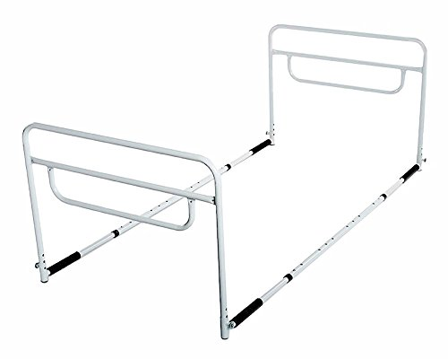 - RMS Dual Bed Rail - Adjustable Height Bed Assist Rail, Bed Side Hand Rail - Fits Full & Twin Beds (Dual Hand Rail)