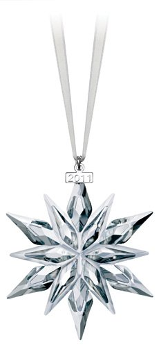Swarovski 2011 Crystal Snowflake Ornament Christmas Tree Ornament Deal (Large Image)