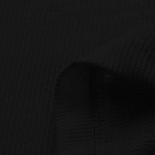 Gilet Moda shirt Nero Corte Canotta Button Casual Fit shirt T Slim Scaldamuscolo Elecenty maniche Donna Sexy T Tfgx4ddq