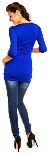 Zeta Ville - De Las Mujeres Maternidad Burbuja Dobladillo Tramo Imperio Túnica Vestido Superior - 993c azul royal