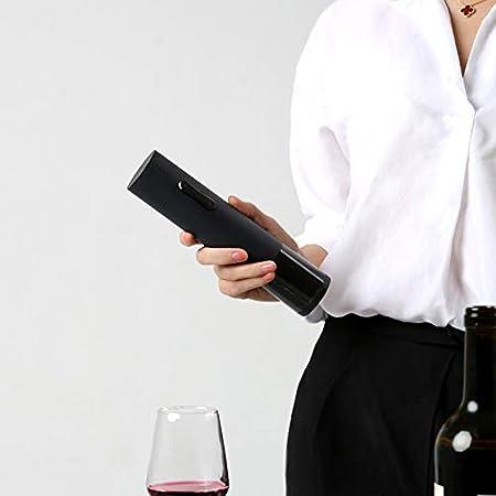 ROYWY Sacacorchos Eléctrico,Profesional Abridor de Botellas de Vino Eléctrico, Juego de Regalo con Cortador de Papel Aluminio, Tapón para Vino, Cable de Cargador USB Restaurante ROYWY