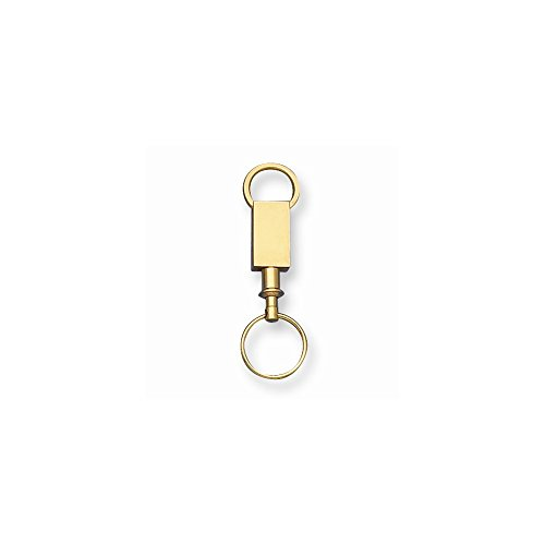 Jewelry Adviser Gifts Gold-tone Valet Key Ring -
