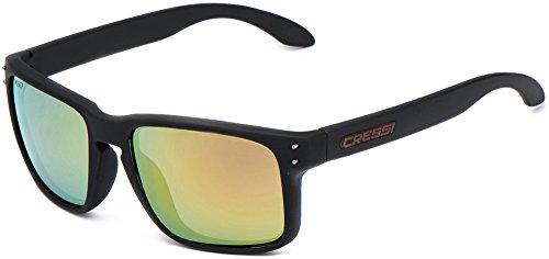 Cressi Blaze Sonnenbrille Matt Schwarz/Lenses Orange Verspiegelt