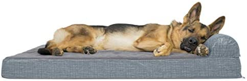 Furhaven Pet Dog Bed Therapeutic Traditional Sofa-Style Deluxe Goliath Chaise Living Room Couch Pet Bed w Removable Cover for Dogs Cats - Available in Multiple Colors Styles