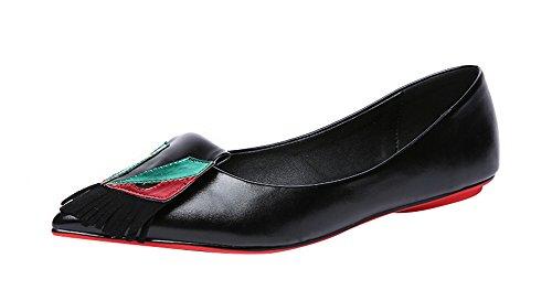 freerun-womens-soft-slip-on-pointed-toe-tassels-ballet-flats-75-bmusblack